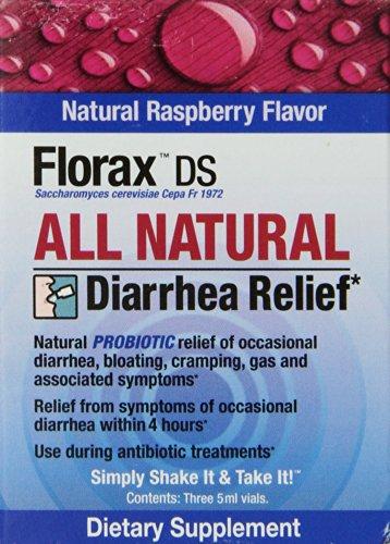 Dietary Supplement Florax DS diarrhée secours, Framboise, 3 Count