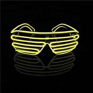 Lerway EL Leuchtbrille Party Club LED Brille für Masquerade,...