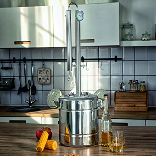 TANNOX Moonshine Still Kit Complete, Alcohol Distiller -Stainless Steel, Alcohol Still Spirits-Whiskey Making Kit - Liquor still 3Gal by TANNOX (Image #4)