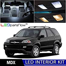 LEDpartsNOW Acura MDX 2001-2006 Xenon White Premium LED Interior Lights Package Kit (13 Pieces) + TOOL