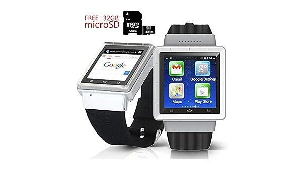 Indigi® Nuevo elegante reloj inteligente 3 G Android 4.4 KitKat ...