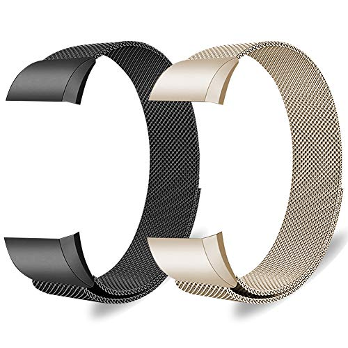 Oitom Metal Bands Compatible with FB Charge 2 Accessory Replacement Band,Small 5.1