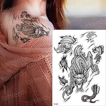 Tzxdbh Impermeable Manche Temporaire Tatouage Sexe Tatouage Femmes Hommes Tatouage Epaule Dos Manches Bras Tatouage Dragon Lion Patte Amazon Fr Cuisine Maison
