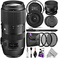 Sigma 100-400mm f/5-6.3 DG OS HSM Contemporary Lens for CANON EF w/ Sigma USB Dock & Essential Photo Bundle