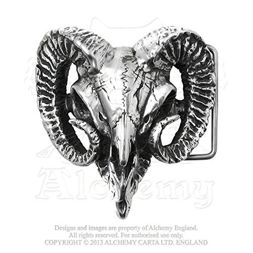 (Ram's Skull Sacrifice for a Pagan Belt Buckle by Alchemy Gothic)