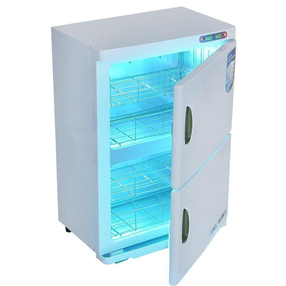 Kanizz Extra Large Commercial Towel Warmer 46L XXL Dual 4 Rack Hot UV Autoclave Heat Energy Sterilizer Cabinet Massage Spa Tattoo