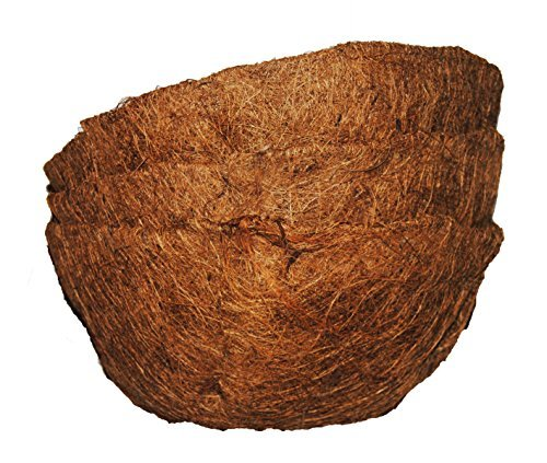 Basket Shaped Coco Fiber Replacement Liners 10 inch (3pk) ()