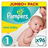 Pampers Premium Protection New Baby Size 1, 96 Jumbo Pack
