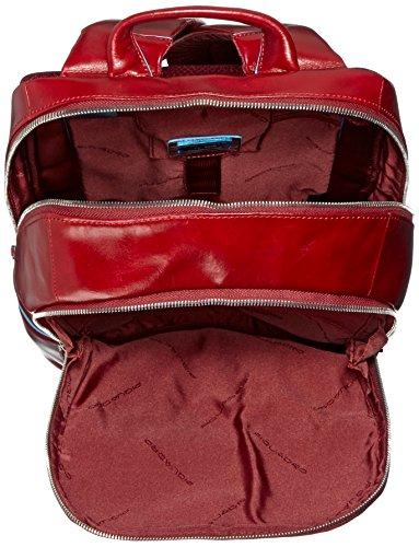 Piquadro Unisex - Erwachsene Rucksack, Blau (Blue) Rot