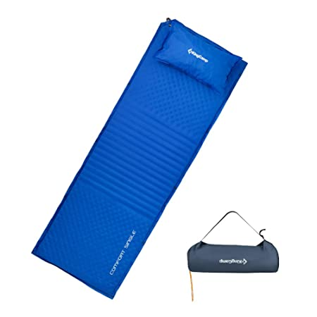 KingCamp Self-Inflating Sleeping Pad, Triple Zone XL 78 24.8 Comfort Spliced Portable Mattress with Free Oversize Self-Inflating Pillow, Perfect for Outdoor Adventure