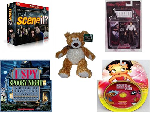 Children's Gift Bundle - Ages 6-12 [5 Piece] - Scene It? Twilight Deluxe Edition Game - Beckett Vampire the Masquerade Figure Toy - Classic Impressions Collectible Kelly Toy Plush Bear 14