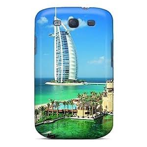 Galaxy High Quality Tpu Case/ Dubai Architecture Beach Boat NQJvdty6455gXgmy Case Cover For Galaxy S3