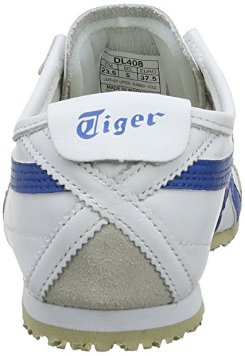 Blanc Mixte adulte Blue 0146 White Basses Onistuka Tiger Sneakers 66 Mexico 11fB0X7