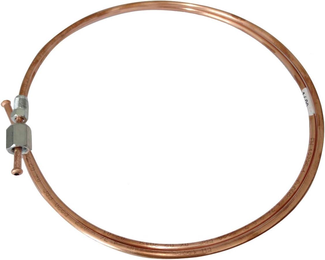 Conduite de Freins Tuyau Tube en cuivre /Ø4.76mm avec raccords F10x1//M10x1 AERZETIX 60cm
