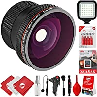 Opteka 0.20x Super Wide Angle Panoramic Macro Fisheye Lens For Canon Digital SLR Cameras w/ 18-55mm & 50mm 80D, 77D, 70D, 60D, 7D, T7i, 7D Mark II, T6s, T6i, T6, T5i, T5, T4i, T3i, T3, SL1 & SL2