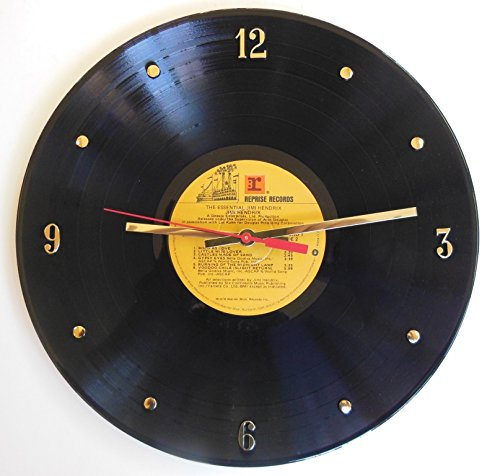 JIMI HENDRIX Vinyl Record Clock. 12″ wall clock made with the original record and ready to hang. For Sale
