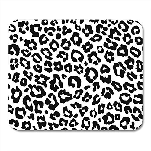 VANKINE Mouse Pads Animal Leopard Pattern Monochrome Black White Snow Cheetah Abstract Africa Mouse pad 9.5