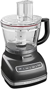 KitchenAid KFP1466SZ 14-Cup Commercial-Style Dicing Kit Food Processor, Slate
