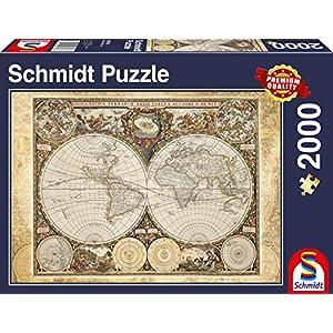 Schmidt Mappamondo Storico Puzzle 2000 Pezzi