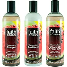 Faith In Nature Watermelon Shampoo, Conditioner and Shower Gel Trio Pack