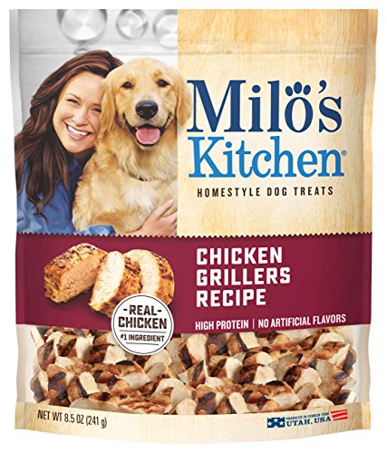 Milo'S Kitchen Chicken Grillers Recipe With Natural Smoke Flavor Dog Treats, 8.5 Oz.