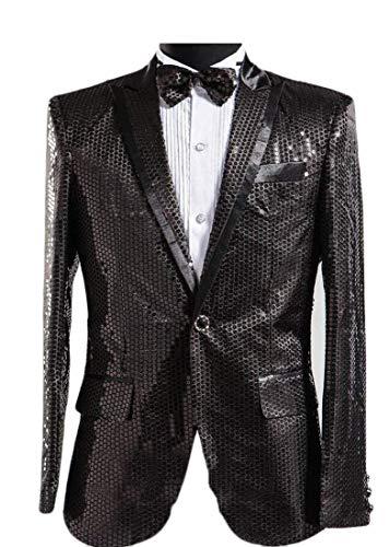 Vêtements Paillettes Hommes Pour Kangqi Black Blazer Sport De Manteau Uwxdqg