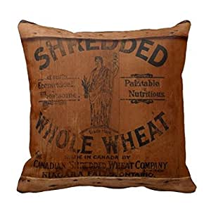Amazon.com: Vintage Wood Shipping Crate Photo Industrial Chic Throw Pillow Case: Home & Kitchen