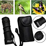 Glumes Monocular Telescope, 25x30 HD Low Night Vision Waterproof High Power Spotting Scope Perfect for Bird Watching Hiking Concerts w/Storage Package