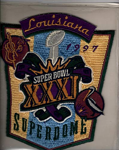 (Super Bowl XXXI 31 Official Patch Green Bay Packers vs New England Patriots at Louisiana Superdome)