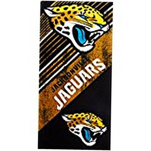 The Northwest Company Officially Licensed NFL Jacksonville Jaguars Diagonal Beach Towel