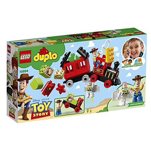 51YJX0McTfL - LEGO DUPLO Disney Pixar Toy Story Train 10894 Building Blocks (21 Piece), New 2019