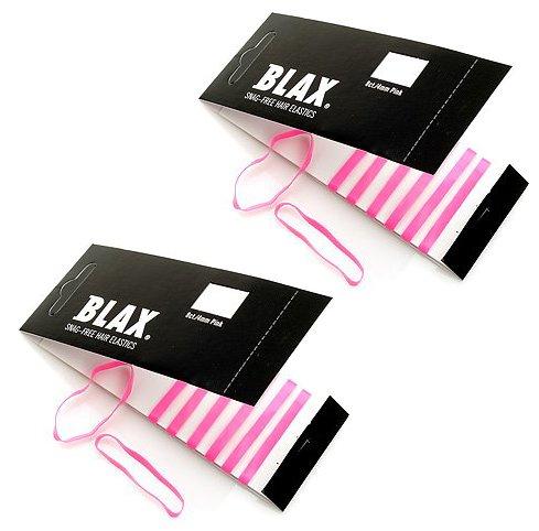 Blax PINK Snag-Free Hair Elastics 4mm, 8 Count (2-Pack)