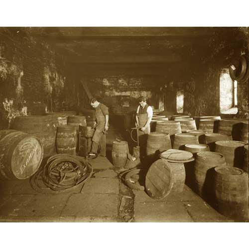 quality-digital-print-of-a-vintage-photograph-coopers-making-whiskey-barrels-sepia-tone-5x7-inches-l