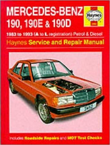 Mercedes-benz 190, 190e and 190d (83-93) service and repair manual.