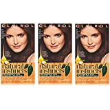 Clairol Natural Instincts Semi-Permanent Hair Color Kit (Pack of 3), 14 Tweed Light Cool Brown Color, Ammonia Free, Lasts for 28 Shampoos
