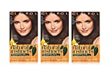 clairol natural instincts red - Clairol Natural Instincts Semi-Permanent Hair Color Kit (Pack of 3), 14 Tweed Light Cool Brown Color, Ammonia Free, Lasts for 28 Shampoos
