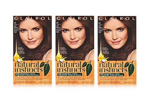 Clairol Natural Instincts Hair Color, Light Cool Brown 6A 1 ea (Pack of 3)