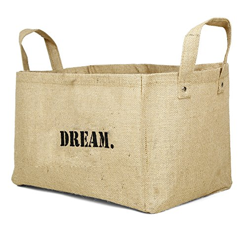 Jute storage baskets kids storage containers baby closet - Bathroom Decorative Items