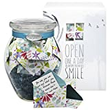KindNotes Glass Personalize-Your-OWN Keepsake Gift Jar Messages Him Her Birthday, Anniversary, Christmas, Valentine's Day - Fresh Cut Floral
