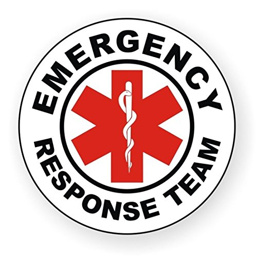 1-Pc Perfect Popular Emergency Response Team Vinyl Sticker Signs Rescue Crew Safe Decal Chemical Resistant Size 2