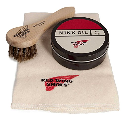 Red Wing Men's Mink Oil Polishing Cloth Brush One Size Neutral from Red Wing