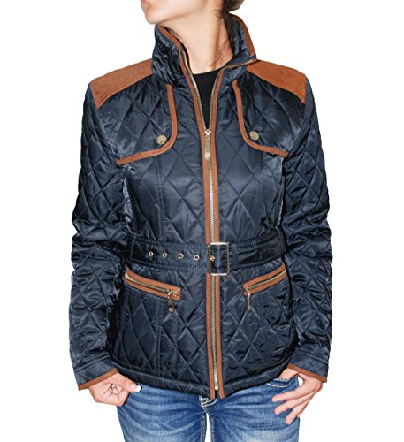 vince camuto women 39 s quilted barn jacket navy rust small buy online in uae apparel. Black Bedroom Furniture Sets. Home Design Ideas