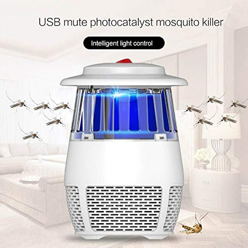 USB Mute Photocatalyst Mosquito Killer Lamp NO Radiation Electronic Anti-Mosquito Lamp Fly Killer Trap Summer Safety Repellent   White, France