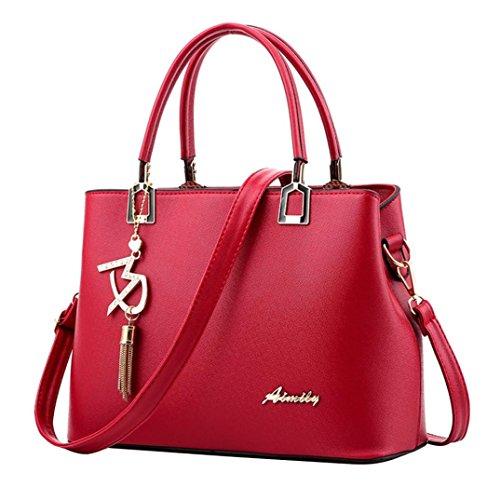 Femme Dos À Main Femme Voyage Bandouliere En Beautyjourney Rouge Femmes A Gsell Cuir Bandoulière Hangbag Sac sac EqwxBC
