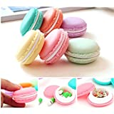 GOTD 6 Pack/PCS Mini Earphone Necklace Erarring Toys SD Card Macarons Bag Storage Box Candy Jewelry Organizer Pill Case Container