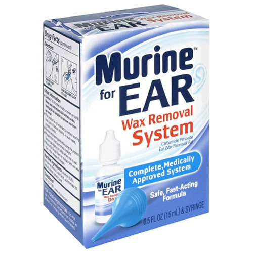 Murine Ear Wax Removal System, 0.5-Ounce Bottles (Pack of 3)