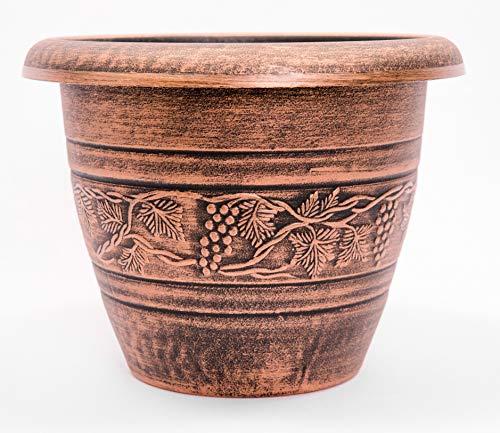 (Vine Pattern Greek Style Rustic Look Plastic Planter 10X8