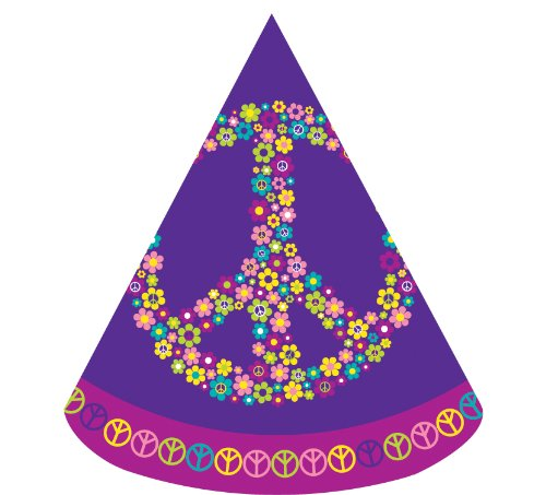 8-Count Child Size Birthday Party Hats, Groovy Girl ()