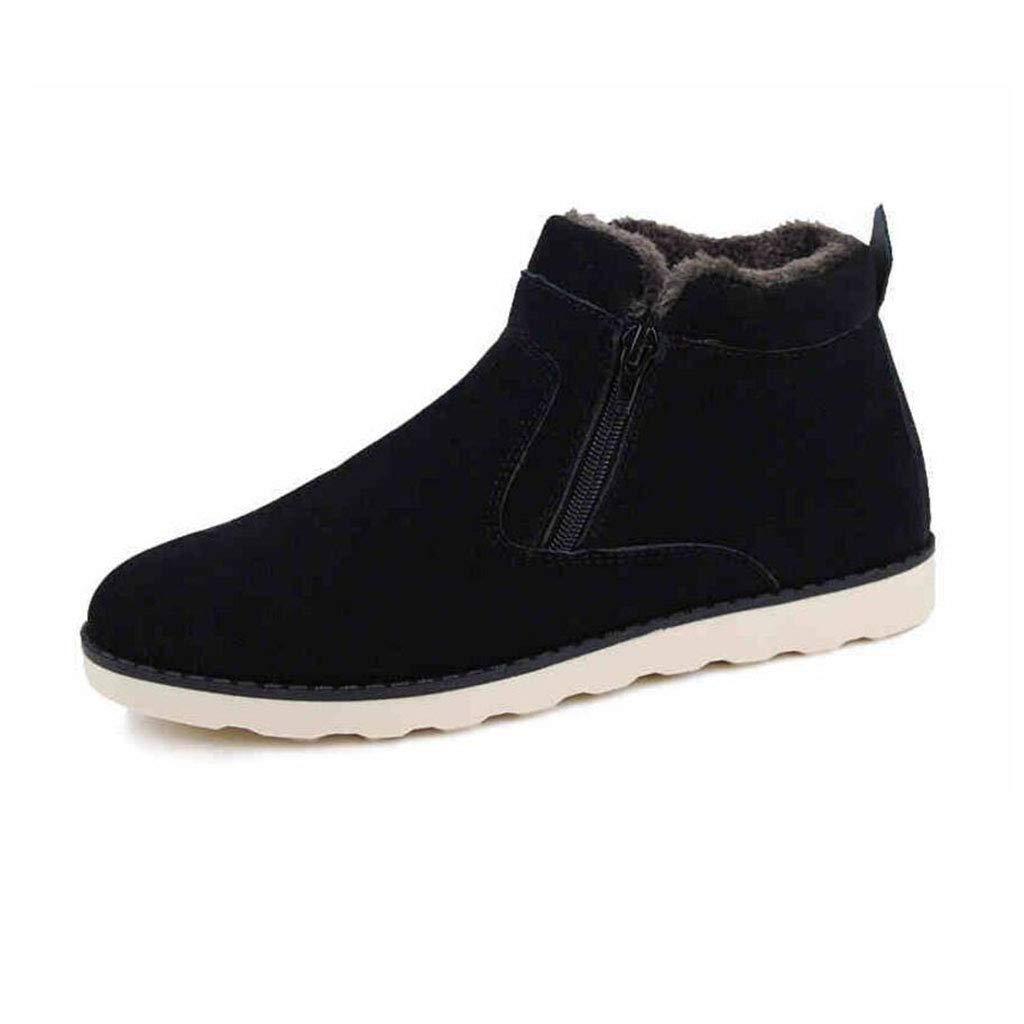 YIWU Winter Schnee Stiefel Männer Stiefel Baumwolle Stiefel Herrenschuhe Freizeit Plus Warm Martin Schuhe Männliche Stiefel Dicker Turnschuhe (Größe   EU39 UK6 CN39)