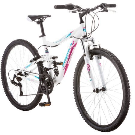 26″ Mongoose R4055WMC Ledge 2.1 Women's Mountain Bike, White/Purple Review